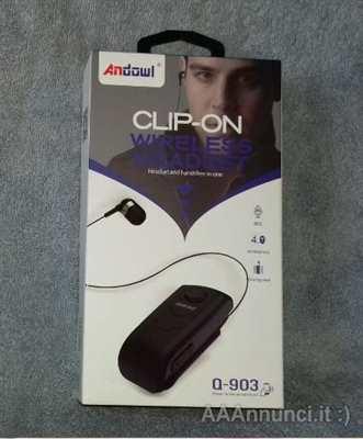 Andowl Cuffie Cireless Con Clip